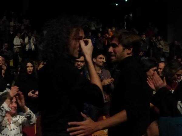 Photo Miss 6 Festival Alpe d'Huez 2020 film fin de séance (c) Olivier Bachelard - Ruben Alves, Stefi Celma