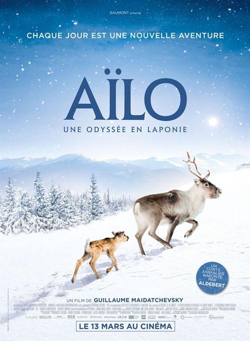 Aïlo une odyssée en Laponie film documentaire affiche
