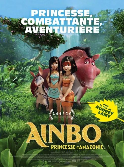 Ainbo, princesse d'Amazonie film animation affiche réalisé par Richard Claus et Jose Zelada