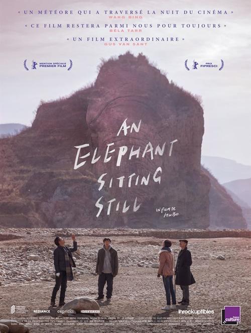 An elephant sitting still film affiche