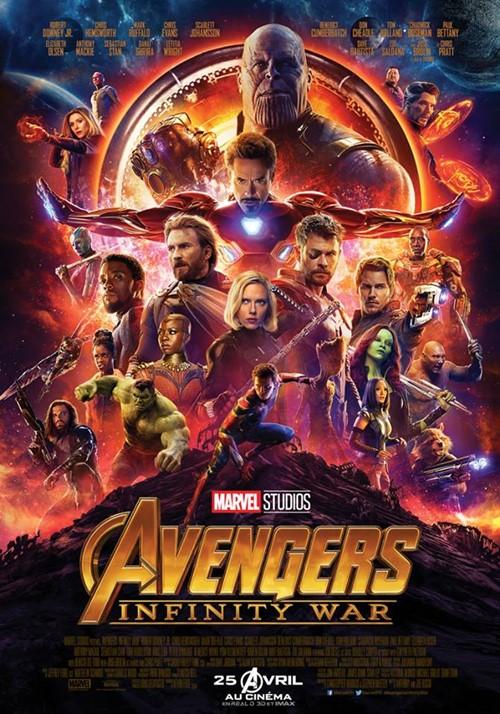 Avengers Infinity War film affiche