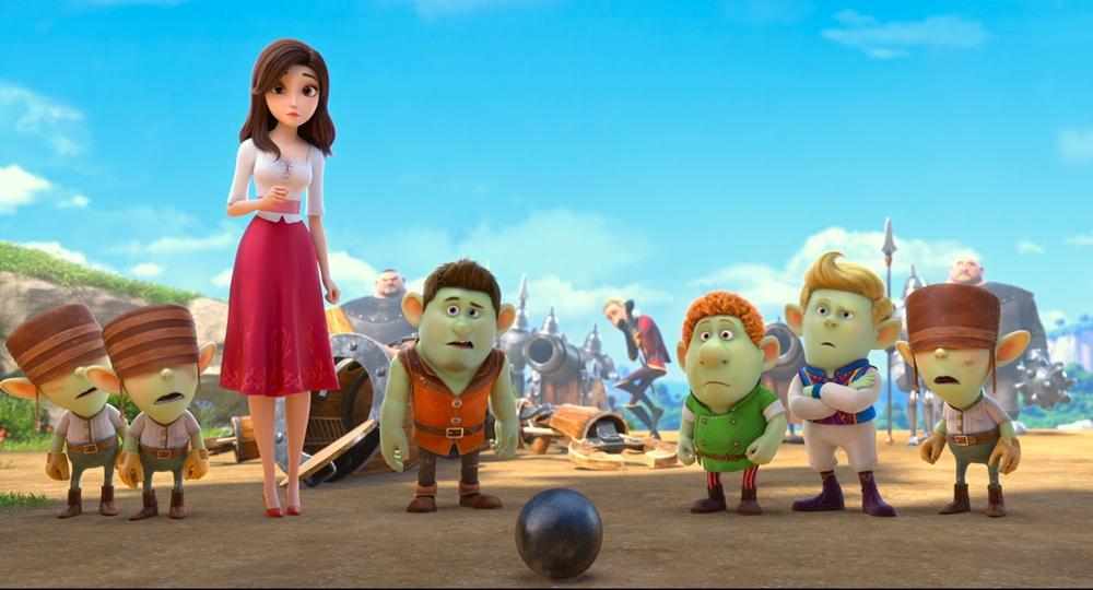 Blanche Neige, les souliers rouges et les sept nains film animation