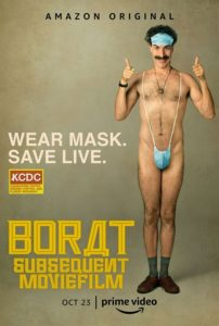 Borat 2 nouvelle mission filmée film documentaire affiche