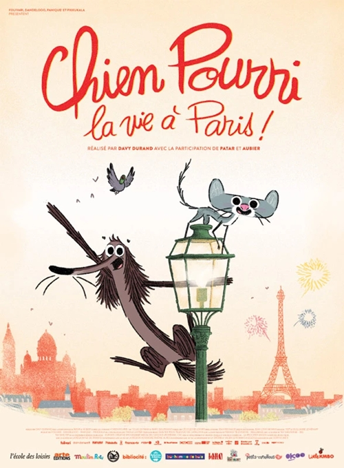 Chien Pourri la vie à Paris film animation affiche