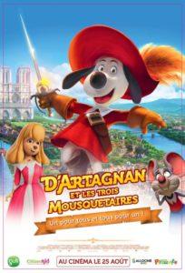 D'Artagnan et les trois mousquetaires film animation affiche réalisé par Toni Garcia