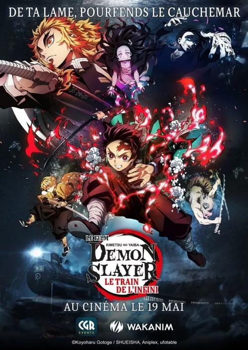 Demon slayer Kimetsu no Yaiba le film Le train de l'infini film animation affiche réalisé Haruo Sotozaki