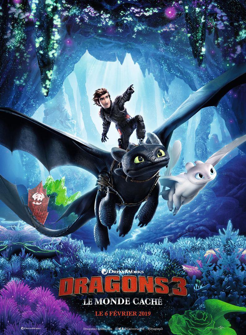Dragons 3 le monde caché film affiche