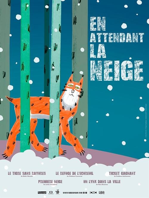 En attendant la neige film animation affiche