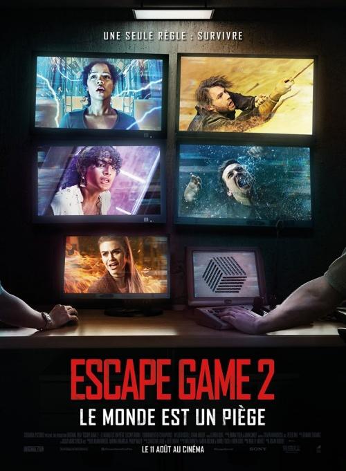 Escape Game 2 : le monde est un piège film affiche réalisé par Adam Robitel