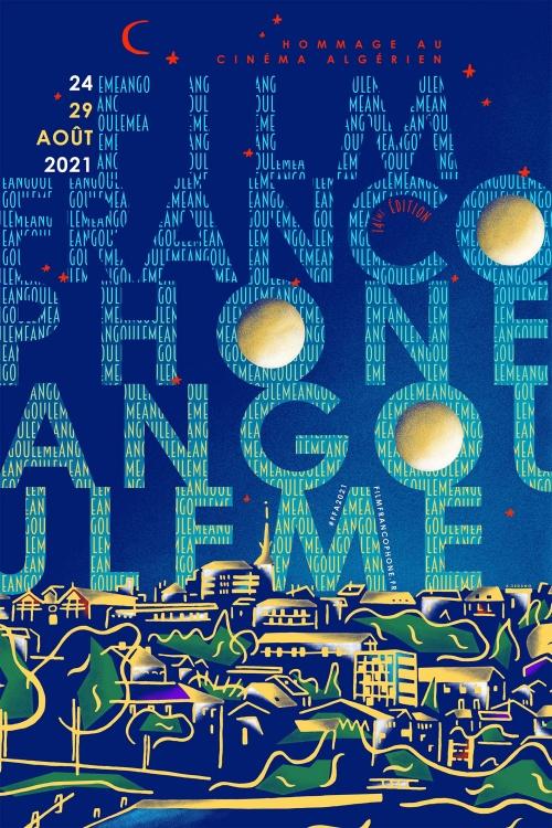 Festival du film francophone d'Angoulême 2021 affiche provisoire
