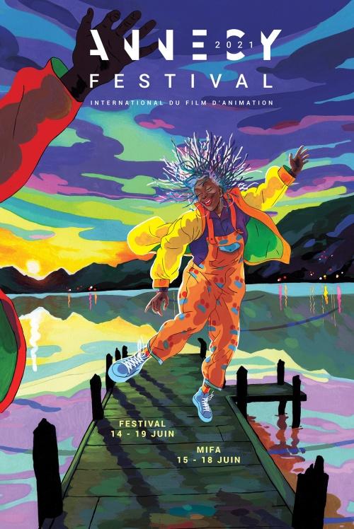 Festival du film d'animation d'Annecy 2021 affiche