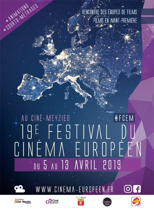 Festival du film européen de Meyzieu 2019 affiche