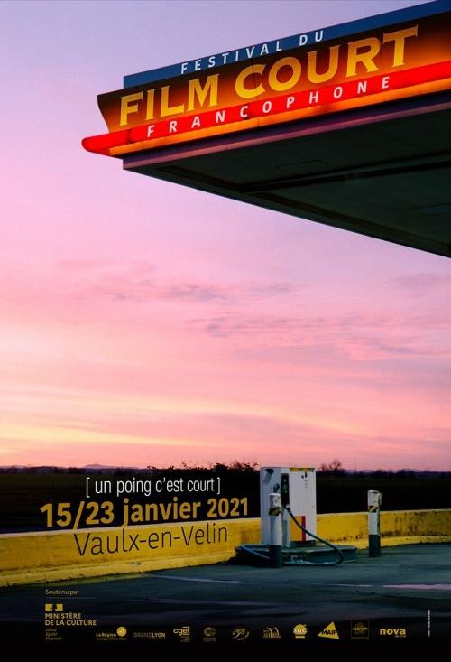 Festival du film court francophone de Vaulx en Velin 2021 affiche
