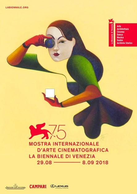 Festival de Venise Mostra del Cinema 2018 affiche grande