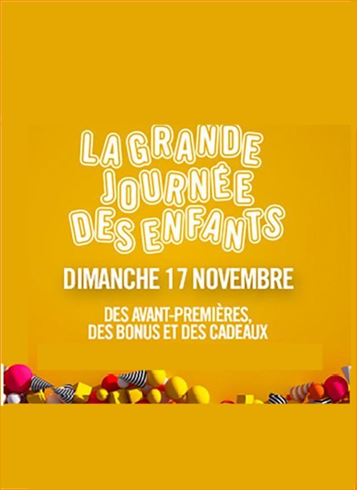 La grande journée des enfants novembre 2019 Pathé Gauont affiche