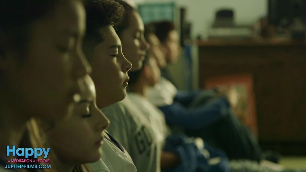 Happy la méditation à l'école film documentaire image