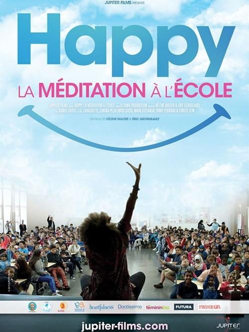 Happy la méditation à l'école film documentaire affiche