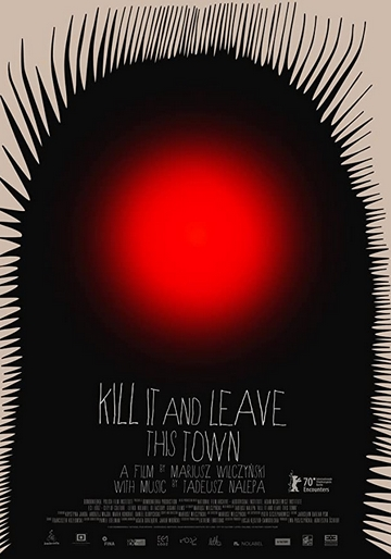 Kill it and leave this town film animation affiche