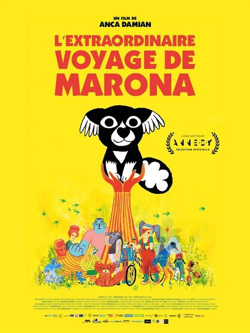 L'extraordinaire voyage de Marona film animation affiche