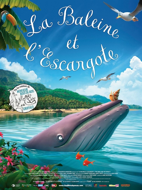 La Baleine et l'escargote film animation affiche