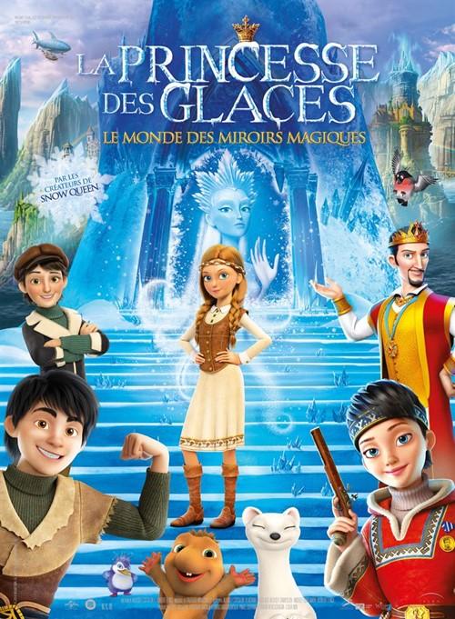 La princesse des glaces le pays des miroirs magiques film animation affiche