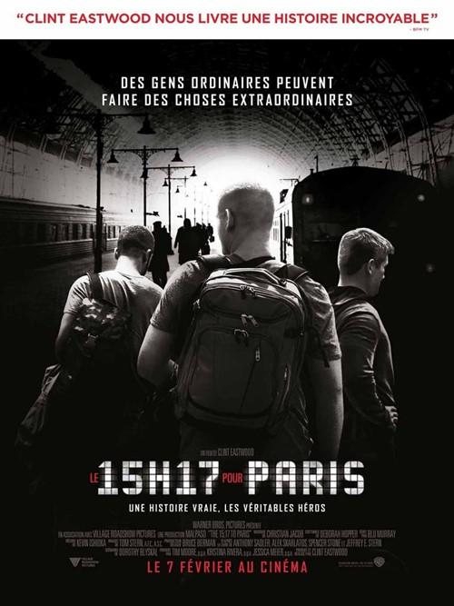Le 15h17 pour Paris film affiche