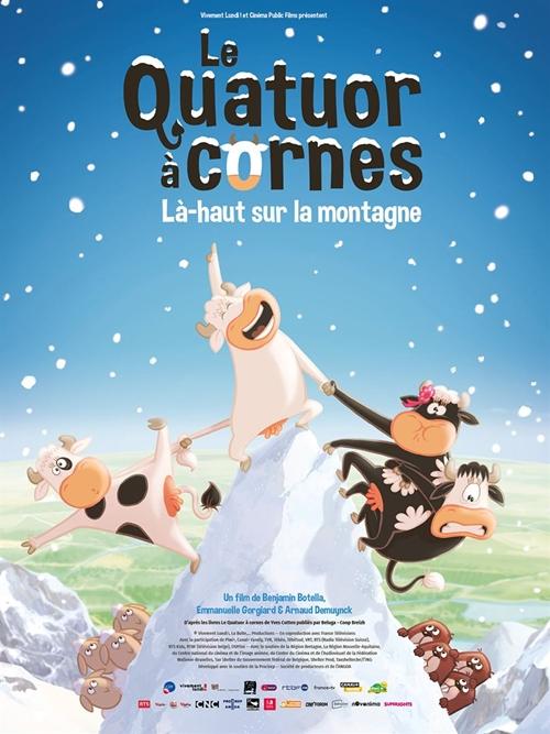 Le Quatuor à Cornes 2 Là-haut sur la montagne film animation affiche