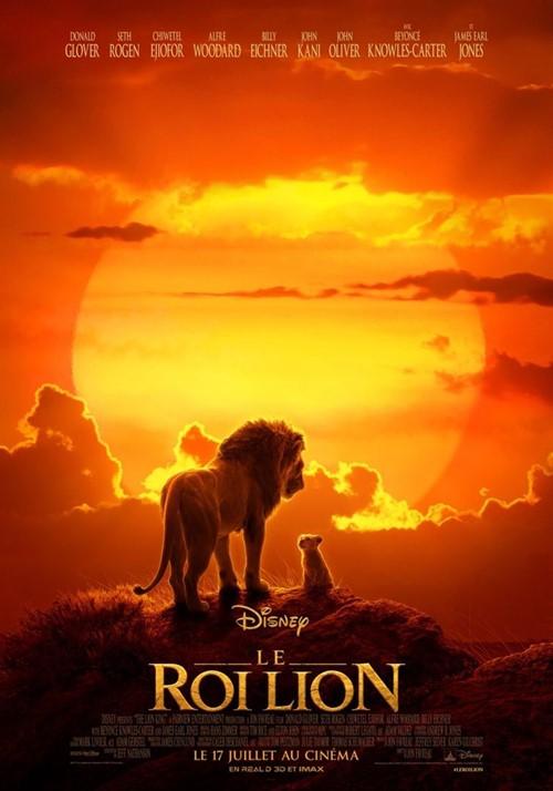 Le Roi Lion 2019 film animation 3D affiche