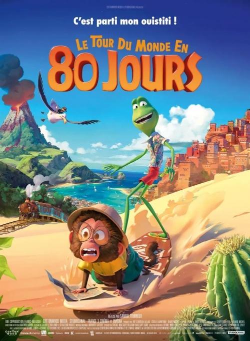 Le Tour du monde en 80 jours film animation affiche réalisé par Samuel Tourneux