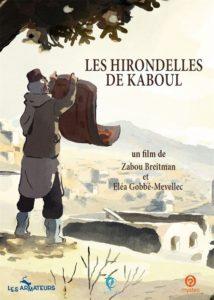 Les hirondelles de Kaboul film animation affiche