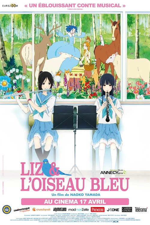 Liz et l'oiseau bleu film animation affiche