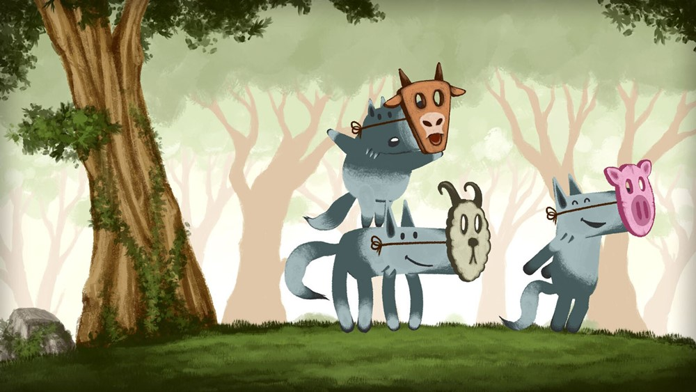 Loups tendres et loufoques film animation image