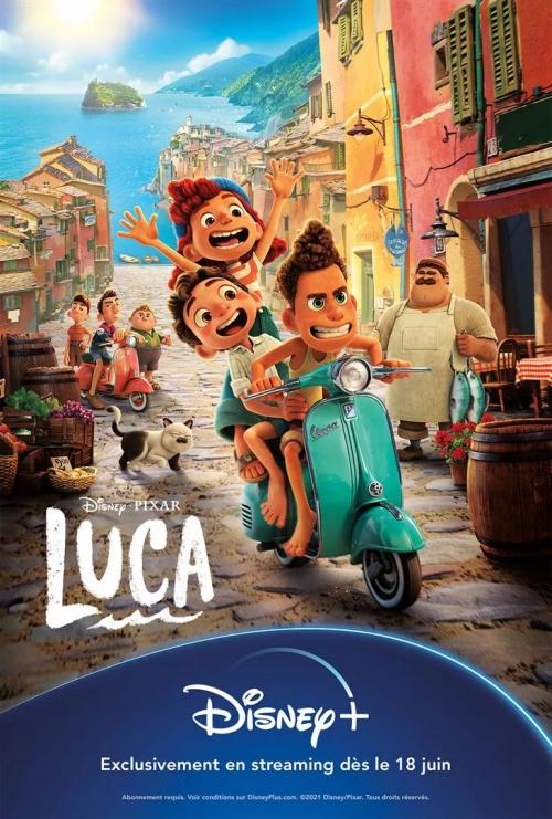 Luca film animation affiche réalisé par Enrico Casarosa