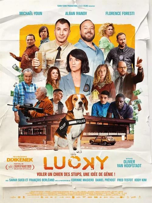 Lucky film 2020 Olivier Van Hoofstadt affiche