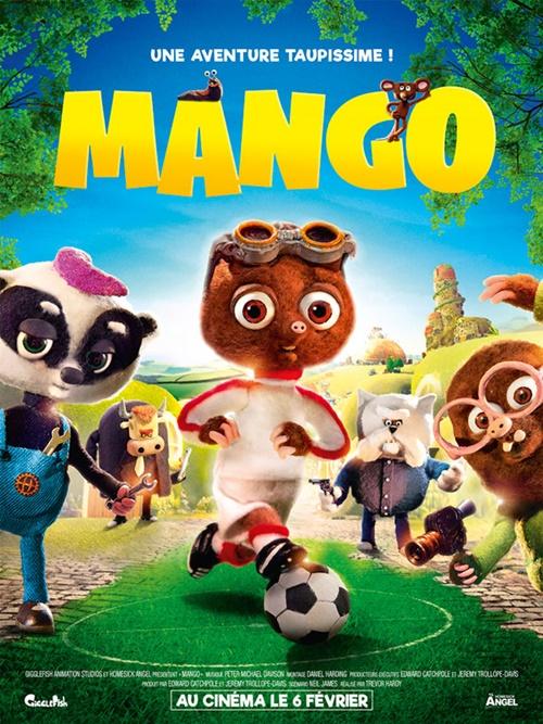 Mango dessin animé affiche