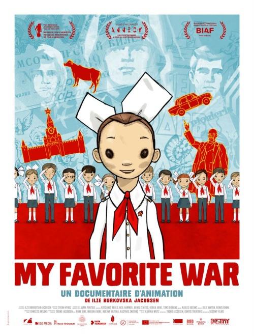 My favorite war film animation documentaire affiche réalisé par Ilze Burkovska Jacobsen