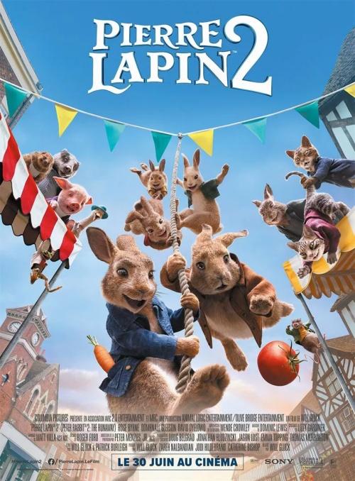 Pierre Lapin 2 film animation affiche réalisé par Will Gluck