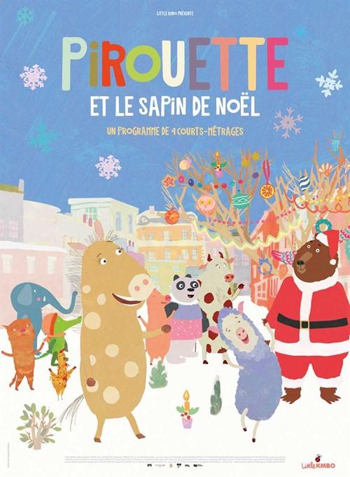 Pirouette et le sapin de Noël film animation affiche