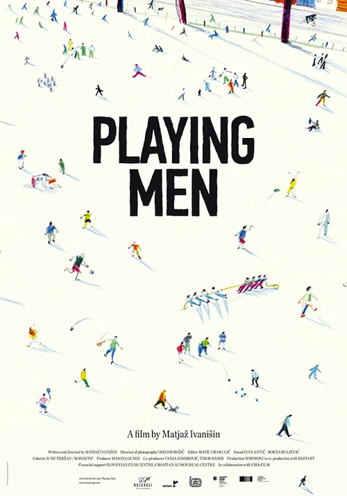 Playing men film documentaire affiche