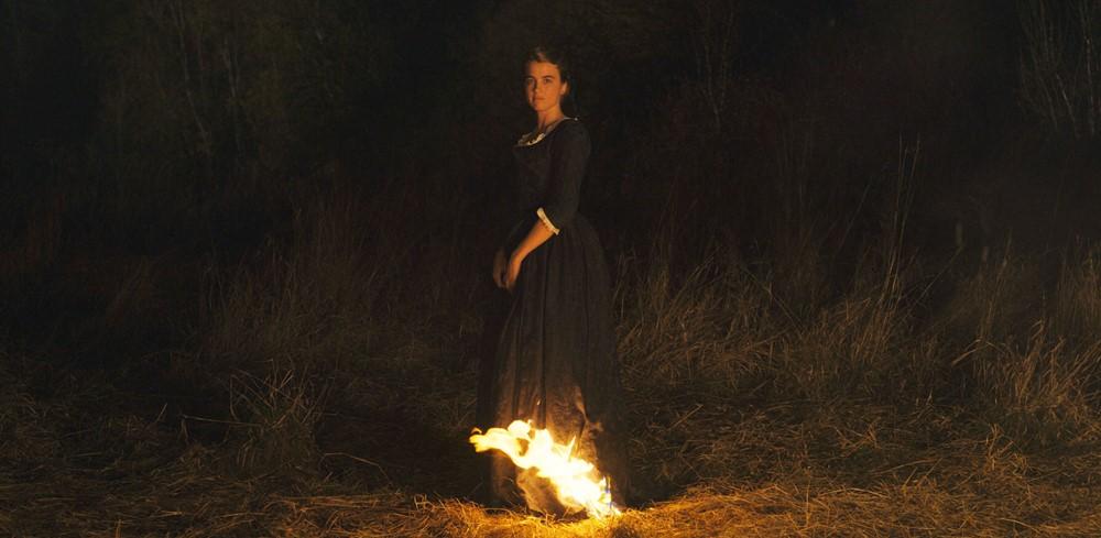 Portrait de la jeune fille en feu image sélection