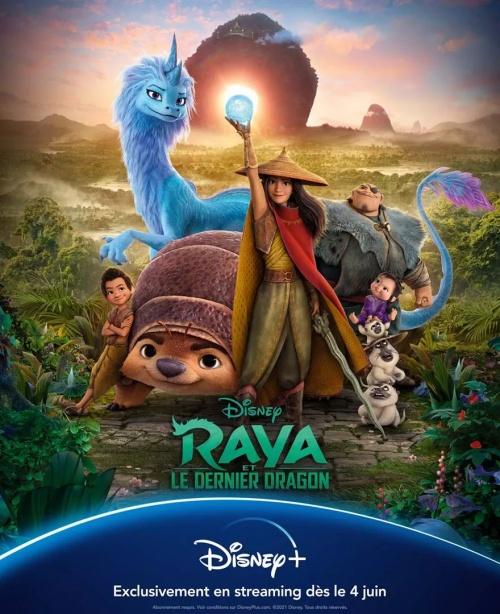 Raya et le dernier dragon film animation affiche réalisé par Don Hall et Carlos Lopez Estrada