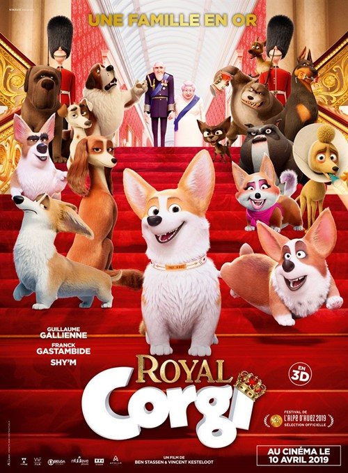 Royal Corgi film animation affiche