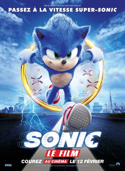 Sonic le film animation affiche