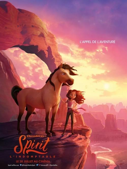 Spirit l'indomptable film animation affiche réalisé par Elaine Bogan et Ennio Torresan