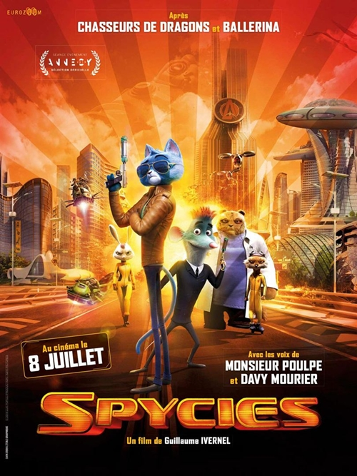 Spycies film animation affiche