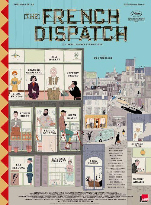The French Dispatch affiche réalisé par Wes Anderson