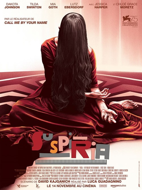 Top 2018 Guillaume Gas Suspiria affiche