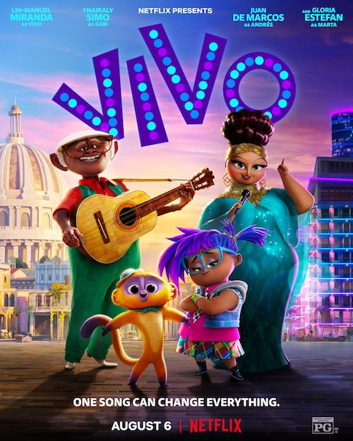 Vivo film d'animation affiche réalisé par Kirk DeMicco et Brandon Jeffords