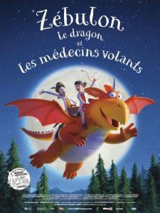 Zébulon le dragon et les médecins volants film animation affiche réalisé par Mariya Sosnina, Mikhail Aldashin, Anton Dyakov, Anastasia Zhakulina et Sean Mullen